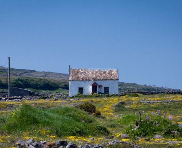 remote house in Irish countryside