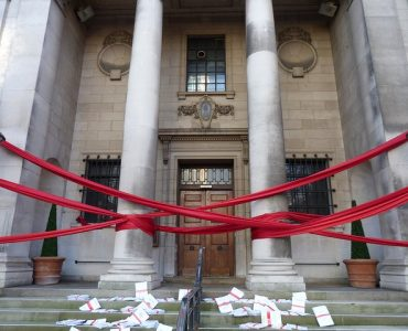 Business Funding in Ireland red tape wrapped around a government building